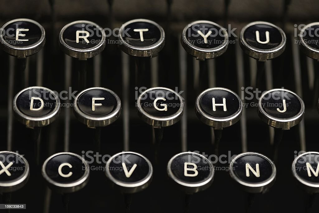 Keys on an old typewriter royalty-free stock photo
