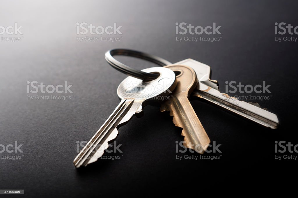 Keys on Black stock photo