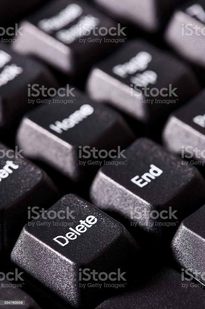 Keys On Computer Keyboard stock photo