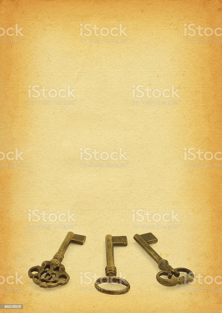 keys on paper royalty-free stock photo