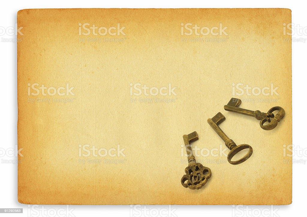 keys on paper #3 stock photo