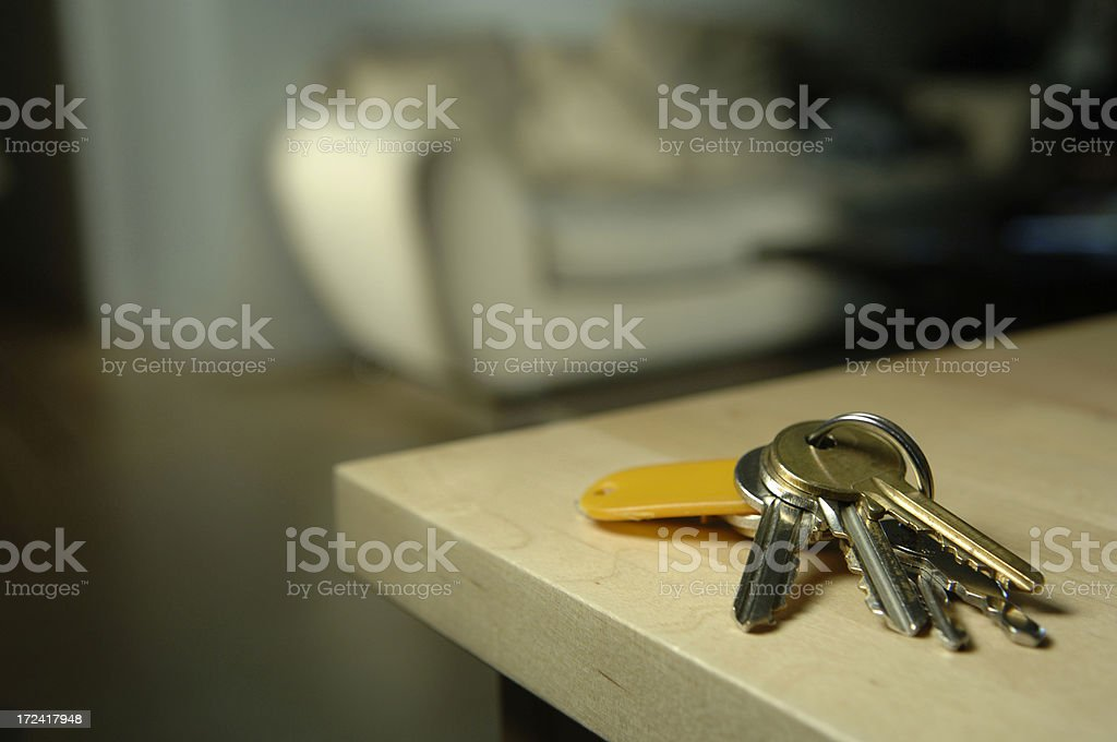 Keys on Table stock photo
