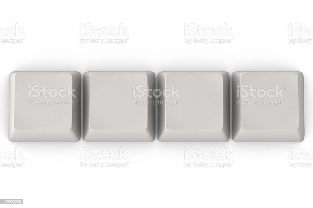 Keys on White royalty-free stock photo