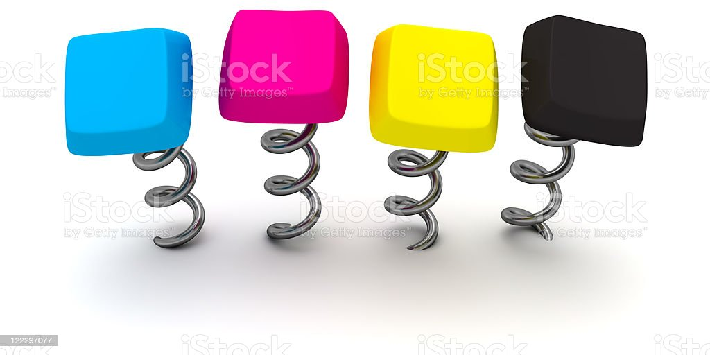 CMYK keys royalty-free stock photo
