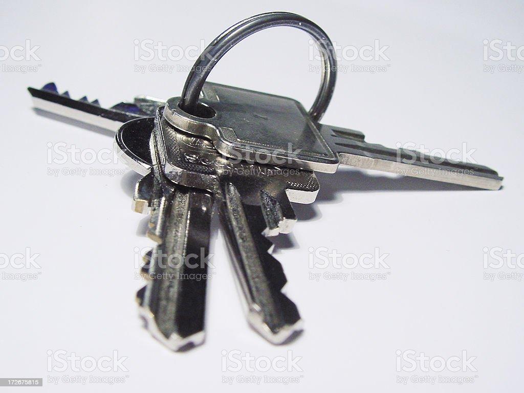 4 keys stock photo