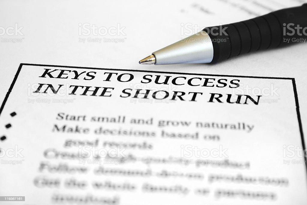 Keys to success stock photo
