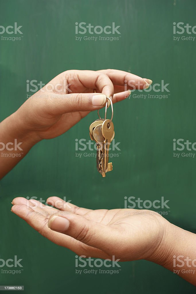 Keys transfer royalty-free stock photo
