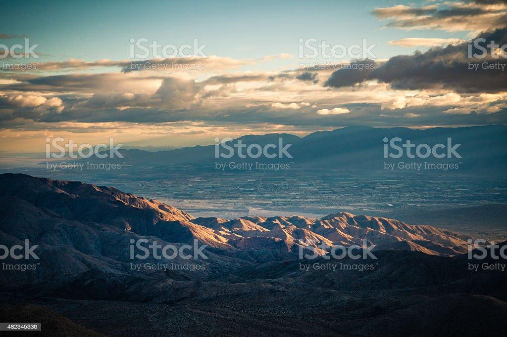 Key's View, Joshua Tree National Park Vantage Point of Coachella stock photo