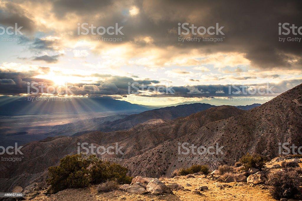 Keys View, Vantage Point of Coachella Valley From Joshua Tree royalty-free stock photo