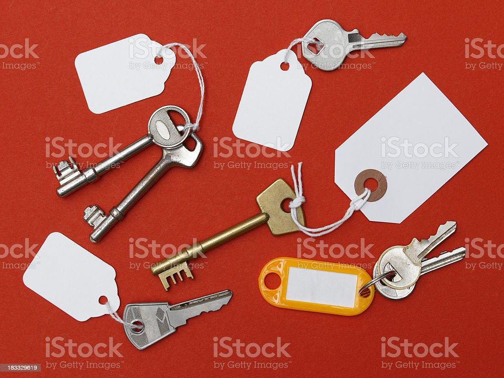 keys with blank label royalty-free stock photo