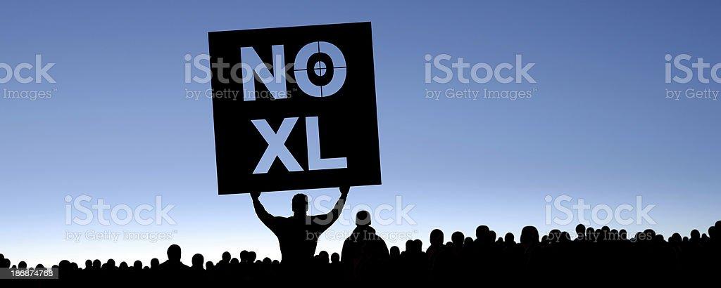 XXXL keystone pipeline protestors royalty-free stock photo