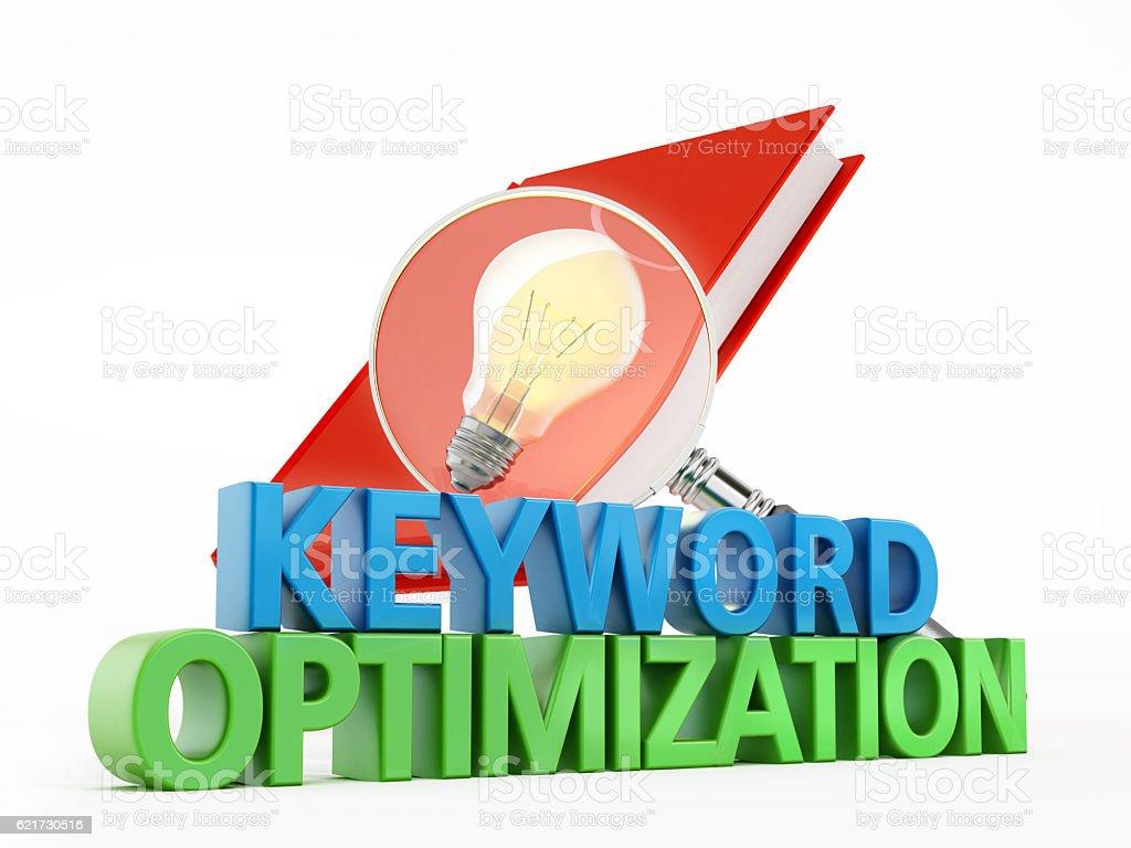 Keyword optimization stock photo