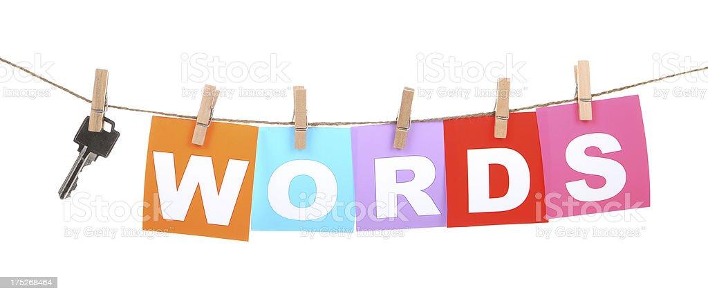 Keywords stock photo