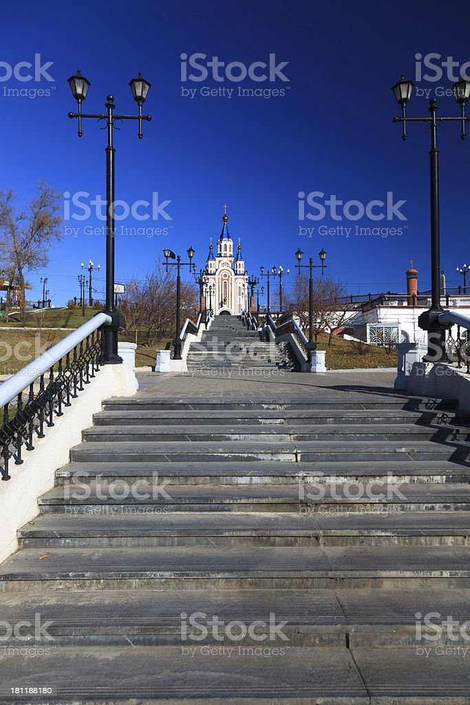 Khabarovsk city stock photo