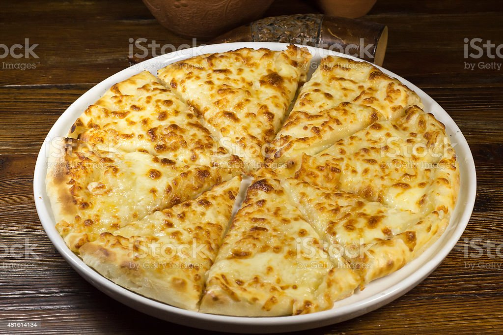 khachapuri with cheese stock photo