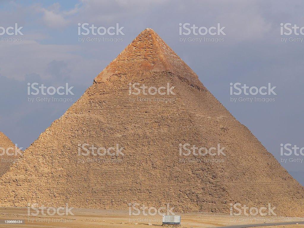 Khafre's pyramid royalty-free stock photo