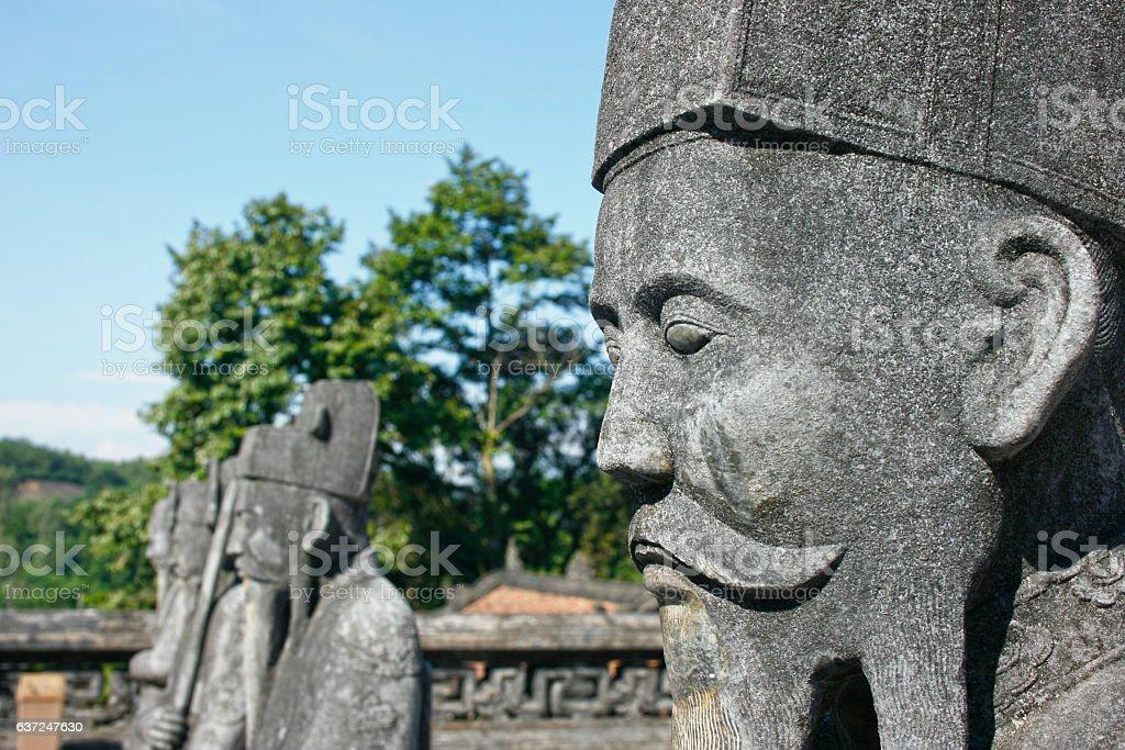Khai Dinh Tomb stock photo