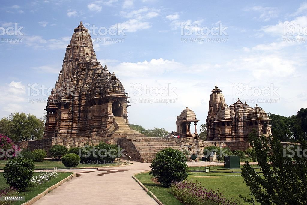 khajuraho erotic temples stock photo