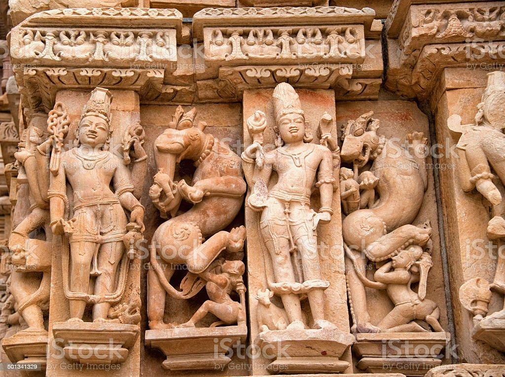Khajuraho Group of Monuments stock photo