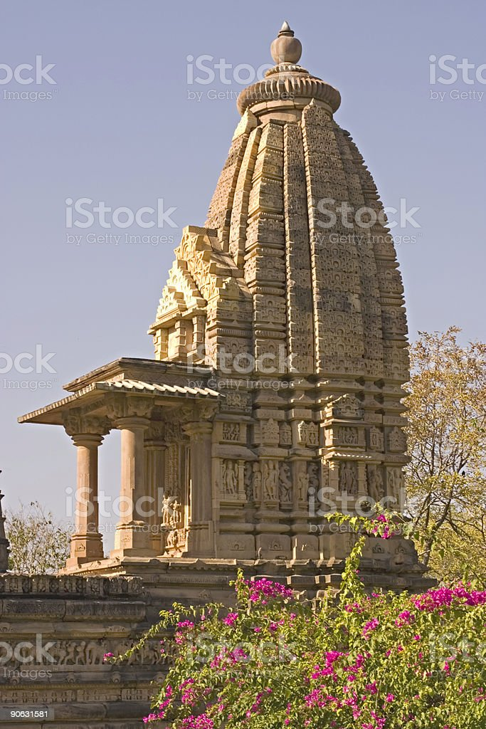 Khajuraho India: Hindu Temple Site royalty-free stock photo