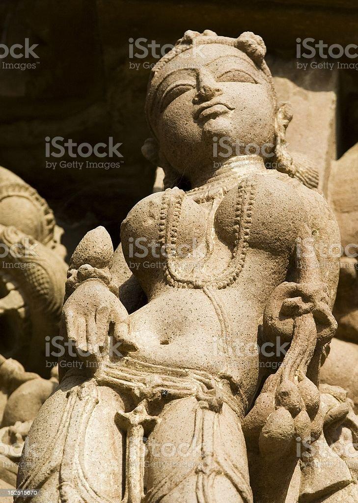 Khajuraho statues royalty-free stock photo
