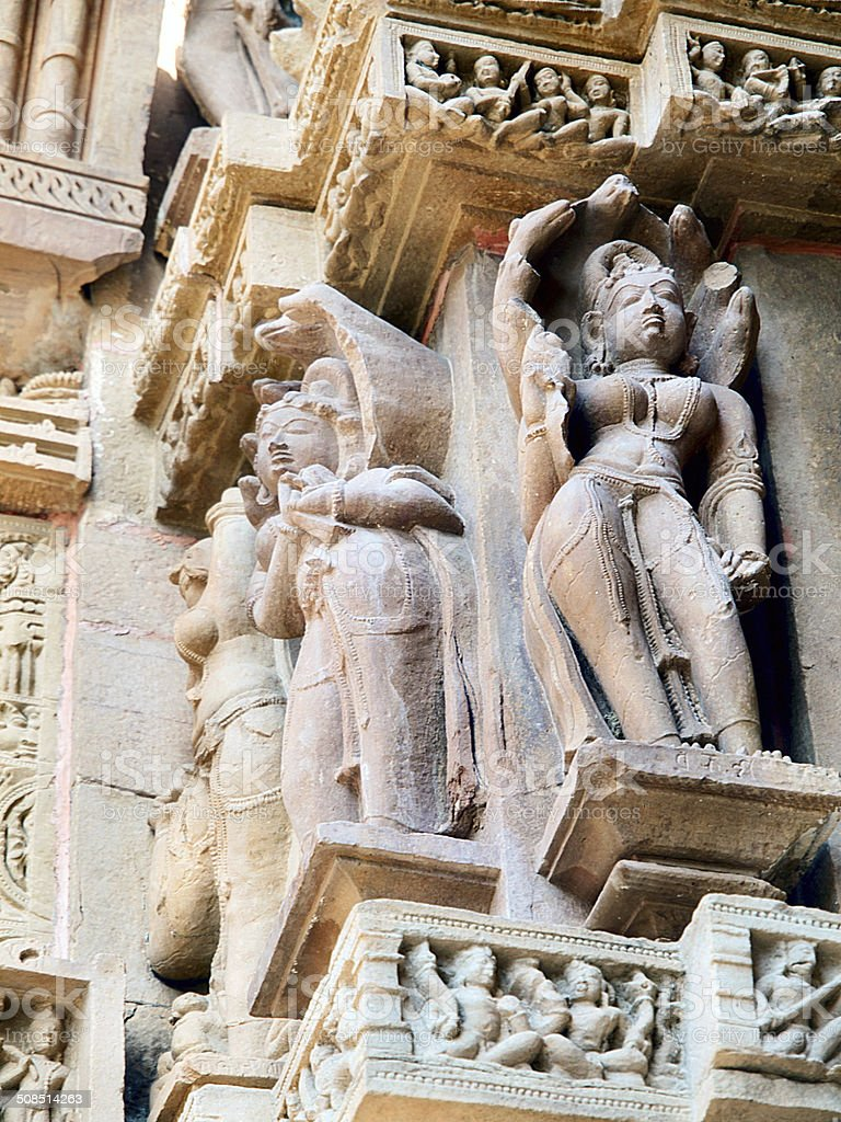 Khajuraho statues stock photo