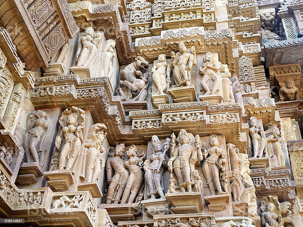 Khajuraho statues stock photo