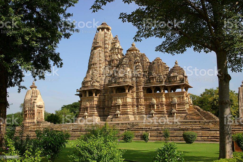 Khajuraho Temple, India stock photo