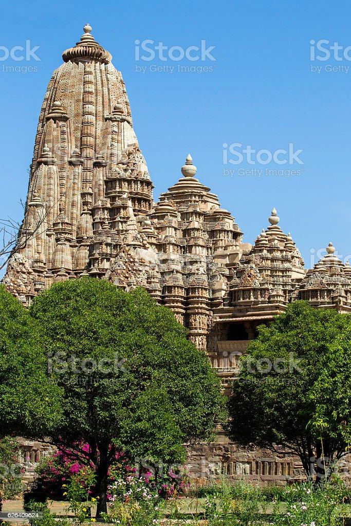 Khajuraho(Kamasutra) Temple, India. stock photo