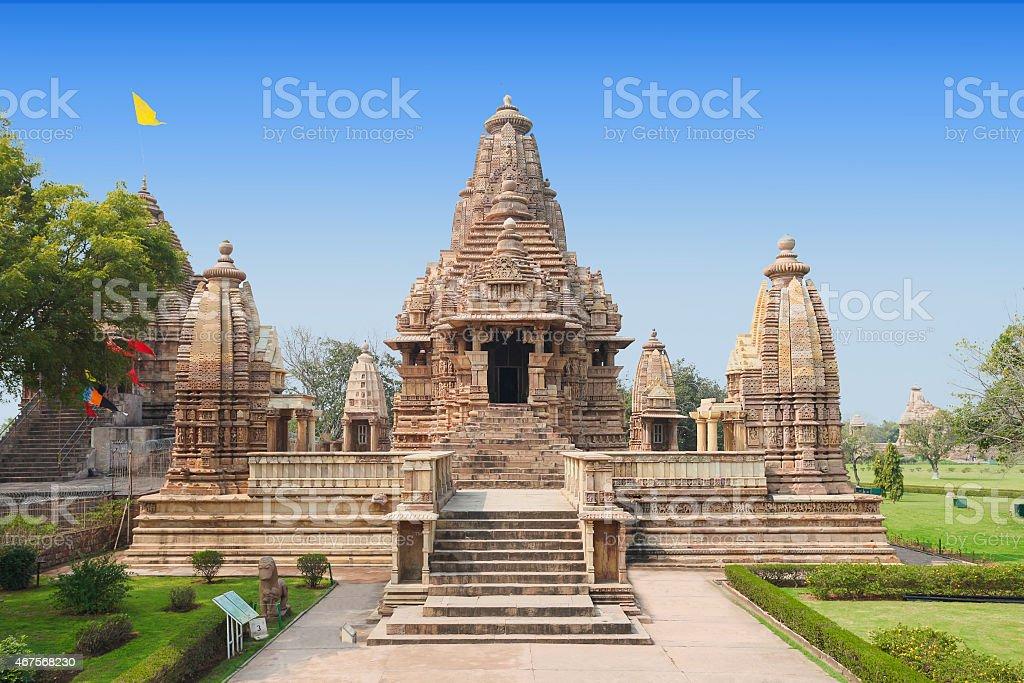 Khajuraho Temple stock photo