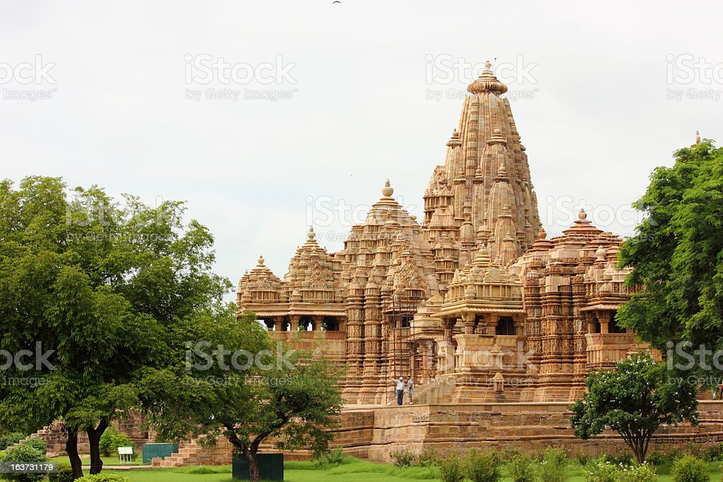 Khajuraho Temple, UNESCO site royalty-free stock photo