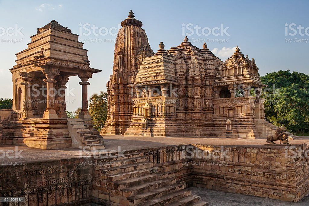Khajuraho Temples - Madhya Pradesh - India stock photo