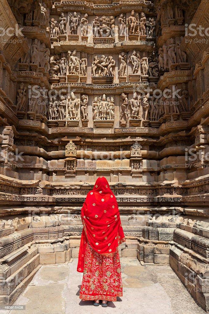 Khajuraho Temples. stock photo