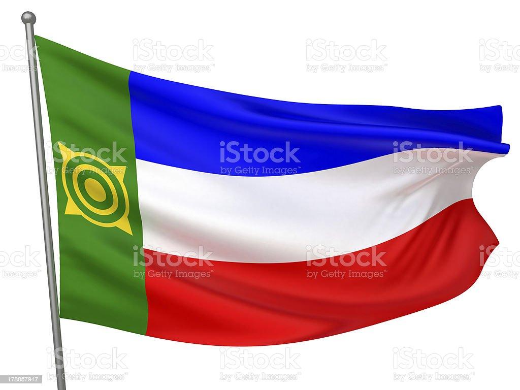 Khakassia National Flag stock photo