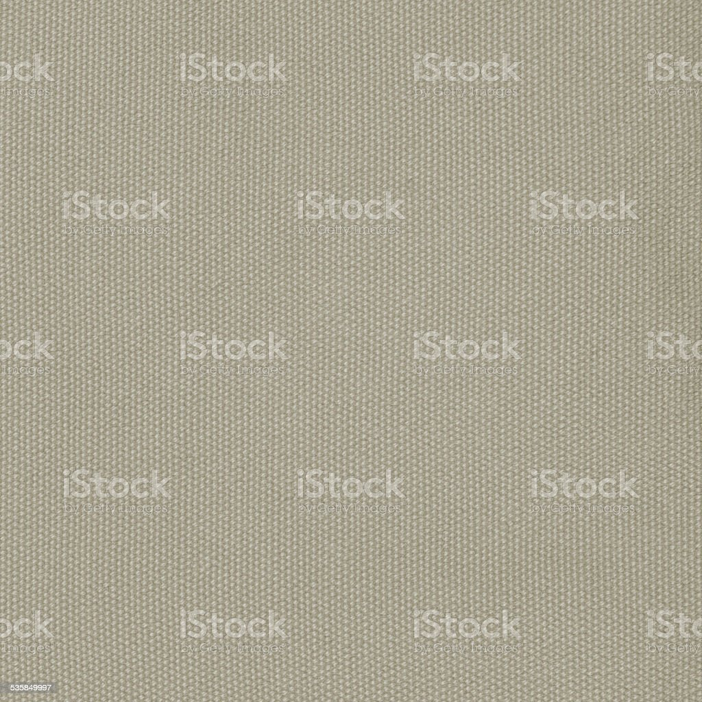 Khaki Cotton Fabric Beige Texture Background, Detailed Macro Copy Space stock photo