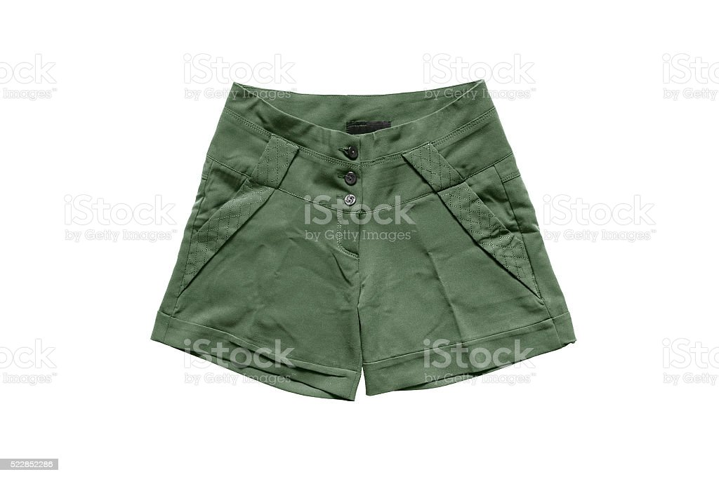 Khaki shorts stock photo