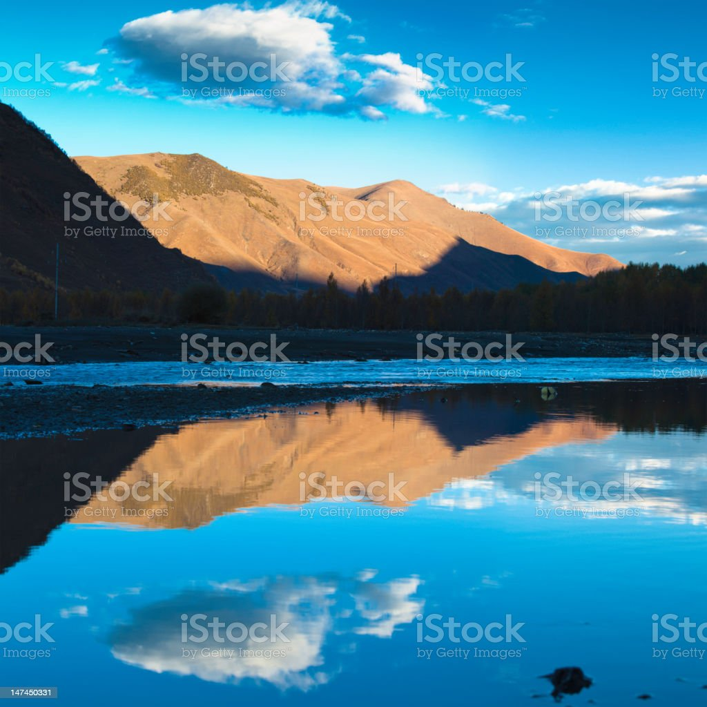 Kham in sunrise stock photo