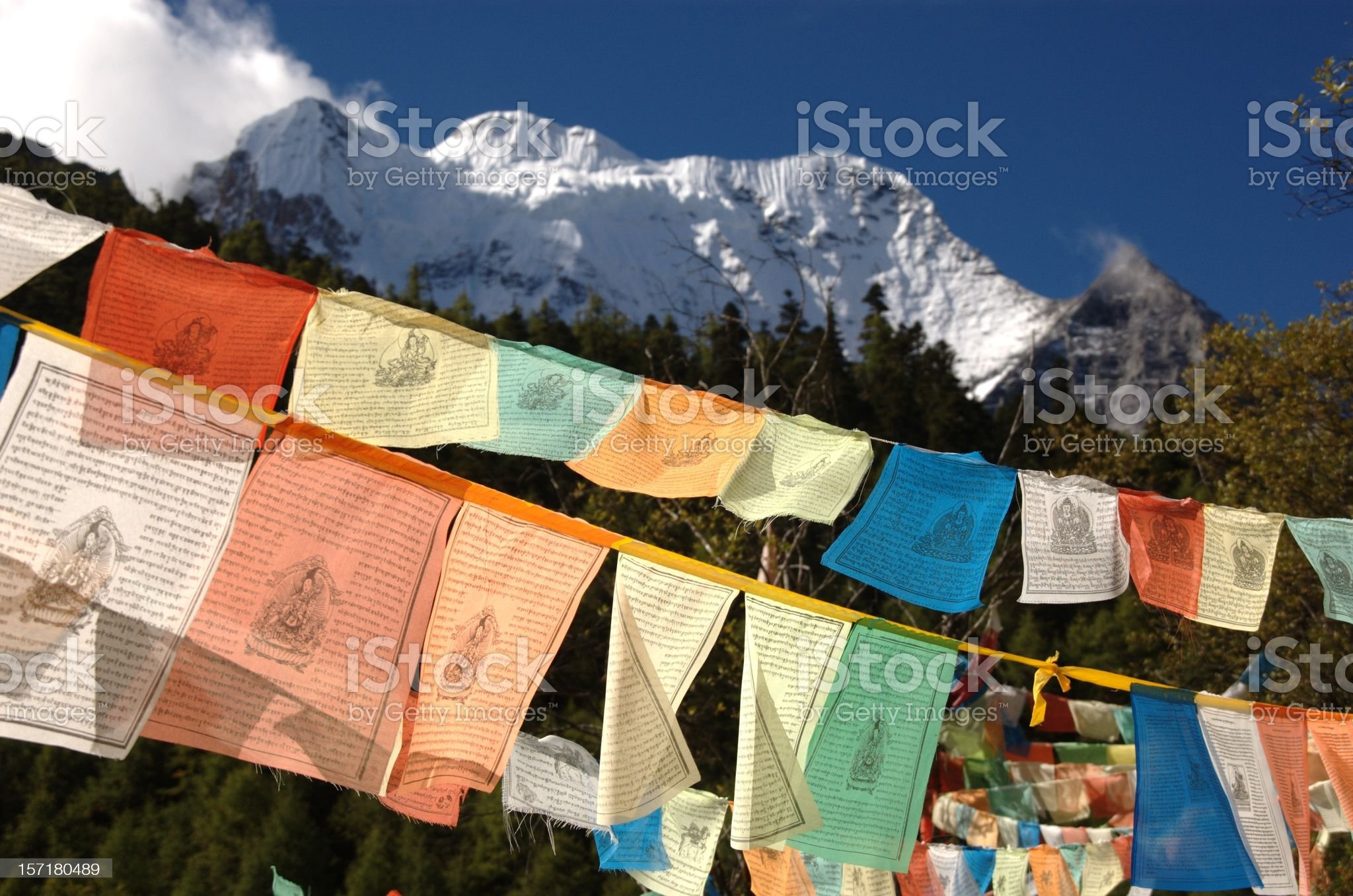 Kham Tibet : Lung-ta @ Yading Nature Park (SiChuan, China) royalty-free stock photo
