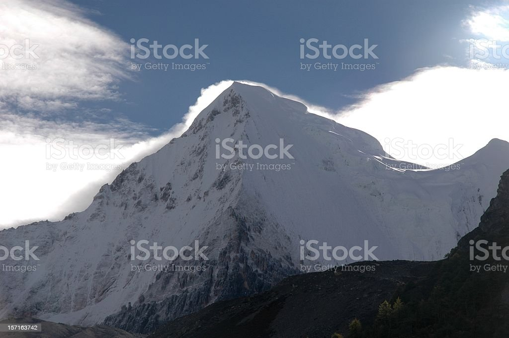 Kham Tibet : Snow Mountain @ Yading Nature Park (Si Chuan, China) royalty-free stock photo