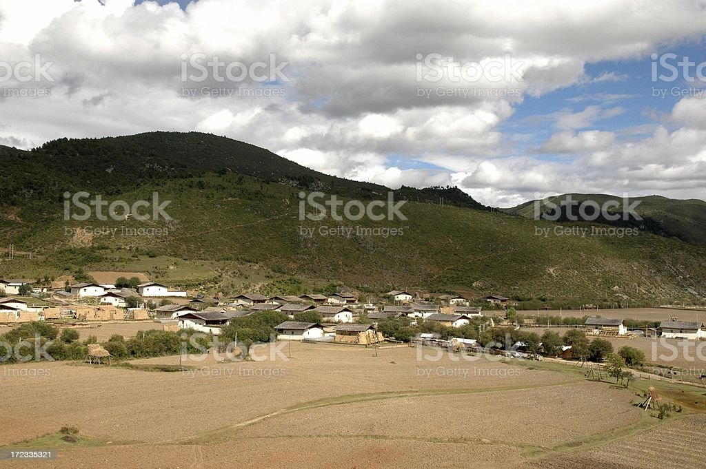 Kham Tibet :Tibetan villages of ZhongDian (Yunnan, China) royalty-free stock photo