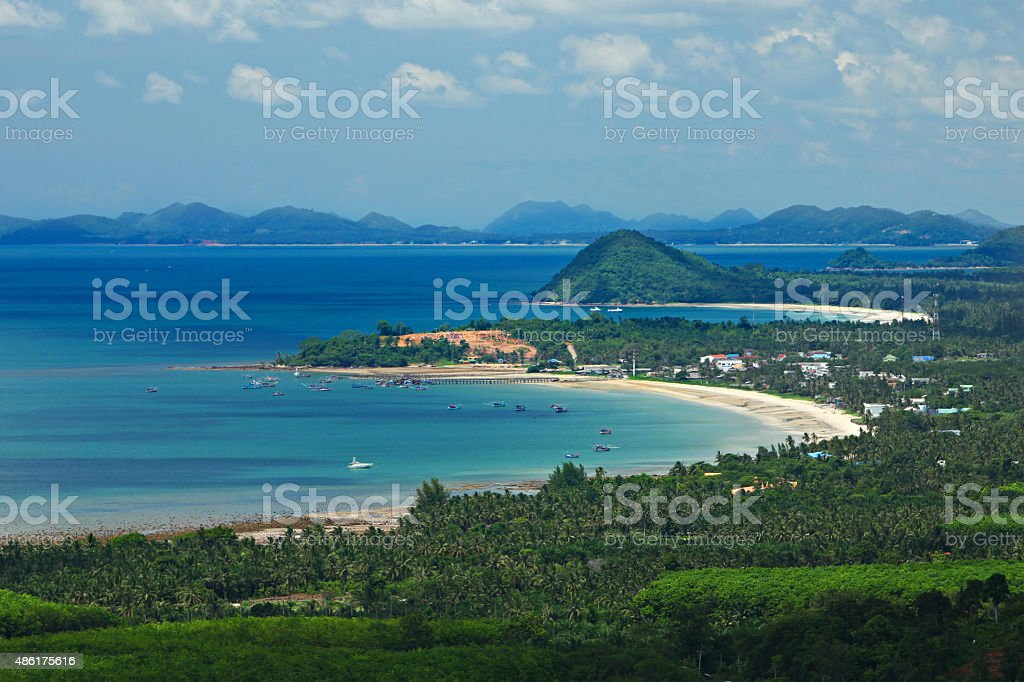Khao Dinsor (Pencil Hill) view point stock photo