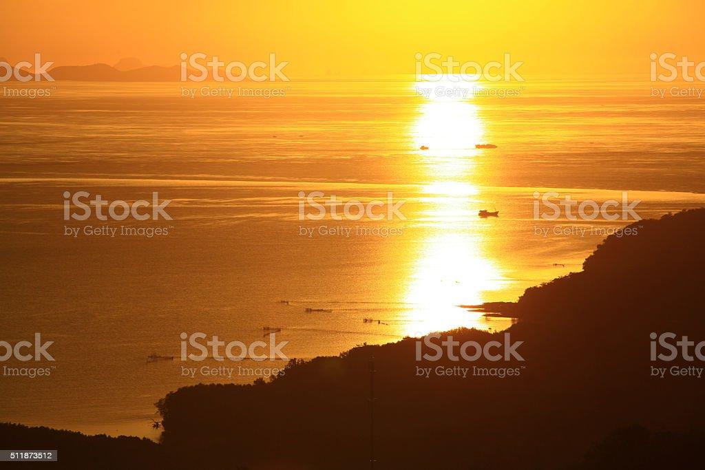 Khao Khad Viewpoint Phuket Province, Thailand. stock photo