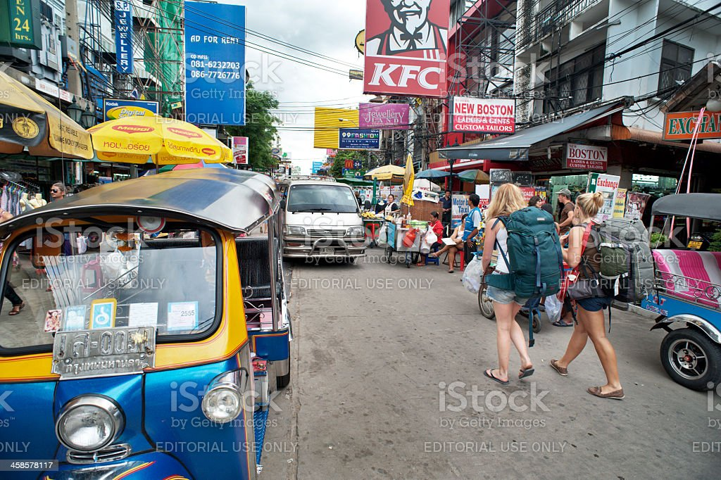 Khao San Road Back Packers stock photo