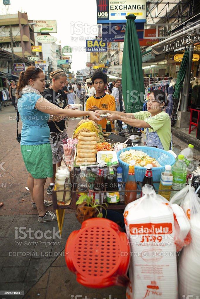 Khao San Road, Bangkok Food Stall royalty-free stock photo