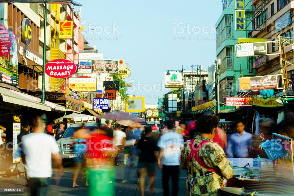 Khao San Road, Bangkok, Thailand stock photo