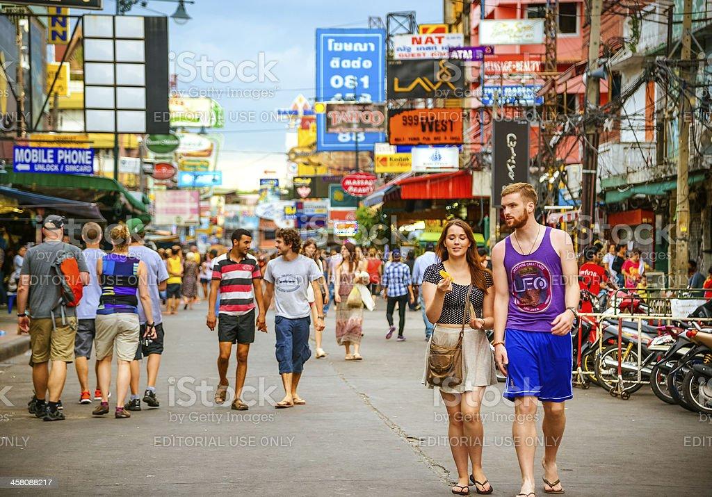 Khao San Road in Bangkok stock photo
