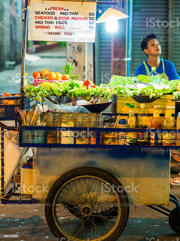 Khao San Road in Bangkok, Thailand stock photo