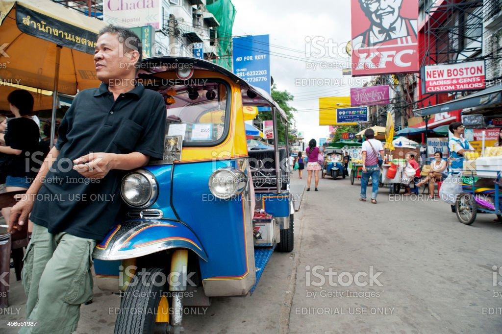 Khao San Road Tuktuk Driver stock photo
