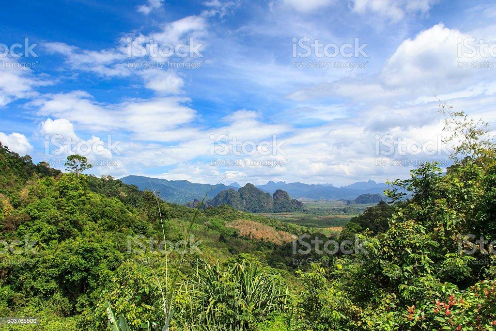 Khao Sok National Park viewpoint, Thailand. stock photo