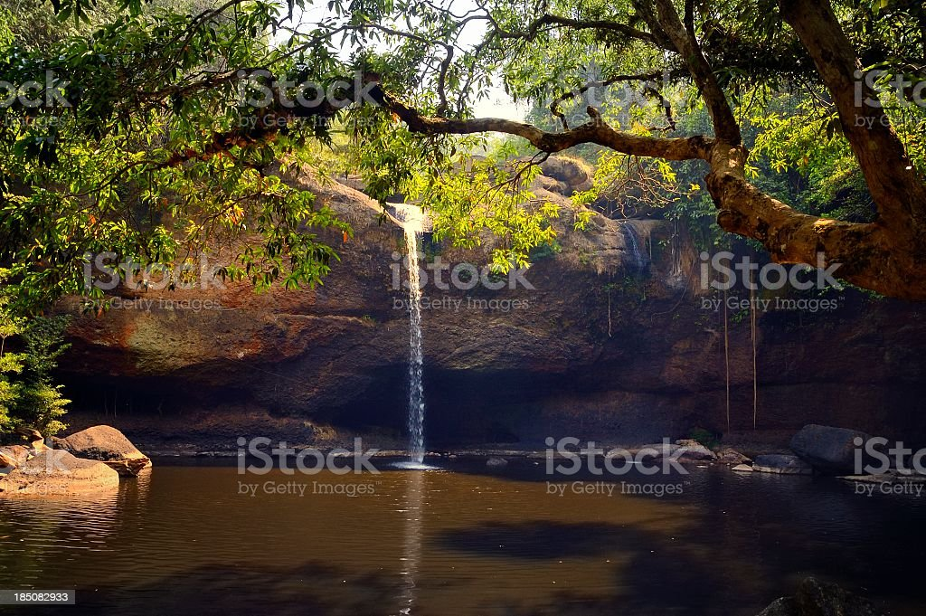 Khao Yai Waterfall And Pool stock photo
